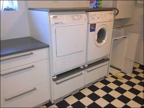 Skap til vaskemaskin og tørketrommel ikea